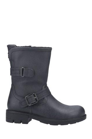 Divaz Black Whitney Faux Fur Lined Boots
