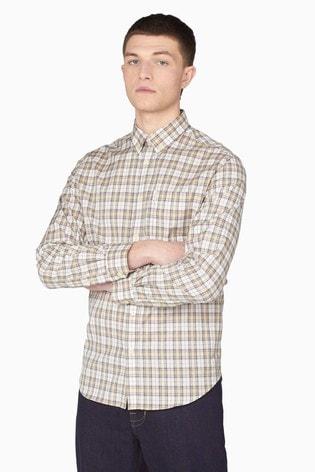 Ben Sherman Pale Yellow Tartan Check Shirt