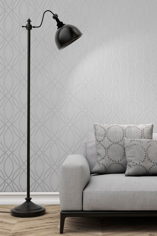Fine Décor Grey UK Pulse Ogee Wave Wallpaper
