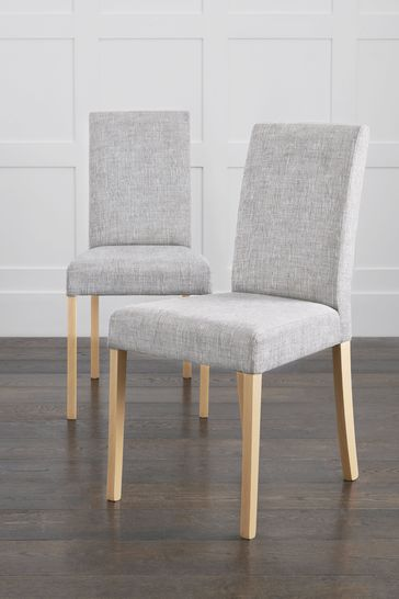 Set of 2 Alby Dining Chairs With Natural Legs
