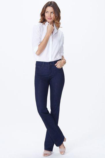 NYDJ Barbara Bootcut Jeans Rinse Dark Blue Denim