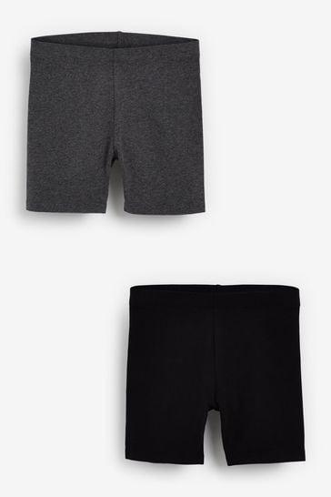 Black/ Grey Marl 2 Pack Cycle Shorts (3-16yrs)