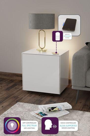 Frank Olsen Smart LED White Lamp Table