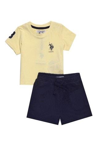 U.S. Polo Assn. Yellow Player 3 Shorts Set