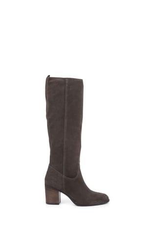Jones Bootmaker Green Iona Slouch Suede Ladies Knee Boots