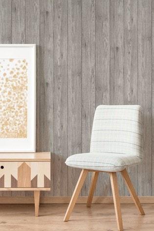 Urban Walls Grey Lumber Wood Wallpaper