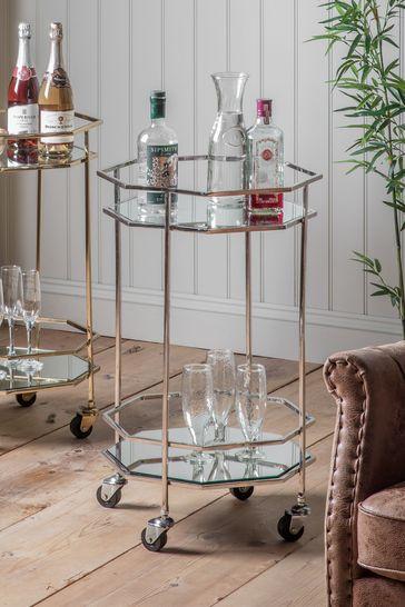 Ockendon Drinks Trolley in Silver By Hudson Living