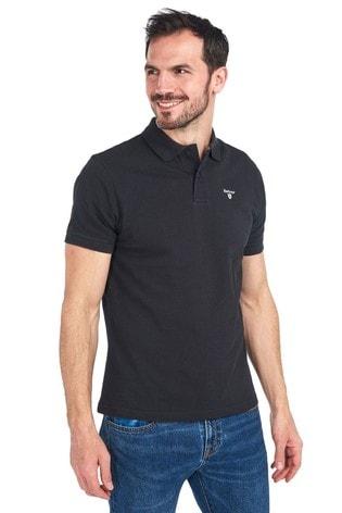 Barbour® Black Sports Polo Shirt