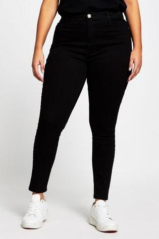 River Island Plus Black Molly Jeans