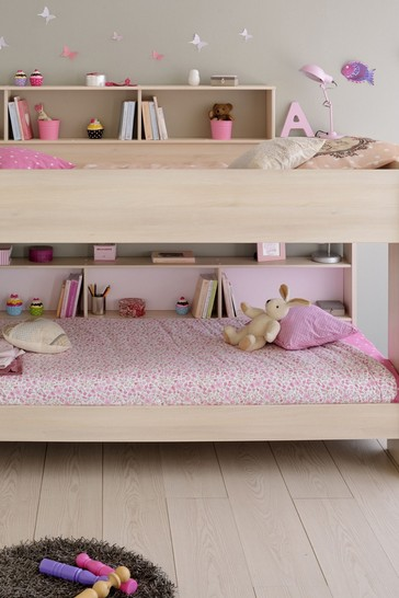 Bibop Bunkbed With Built In Shelving By Parisot