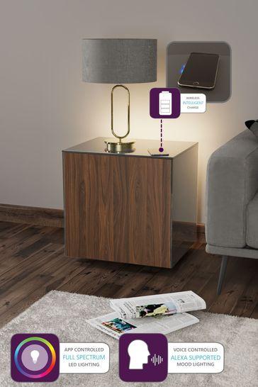Frank Olsen Smart LED Grey Walnut Lamp Table