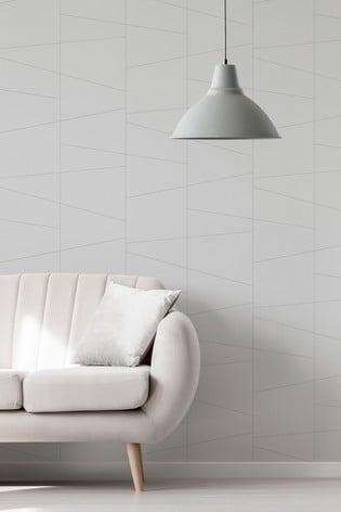 Urban Walls Silver Deco Fracture Wallpaper