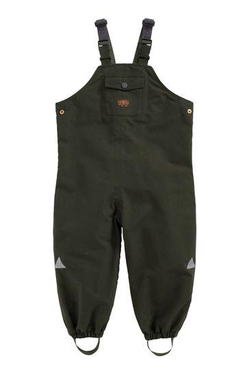 Töastie® Kids Olive Waterproof Dungarees