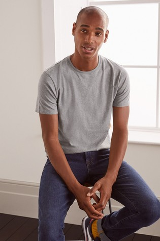 Boden Grey Marl Washed T-Shirt