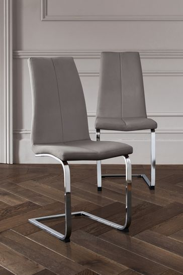 Set Of 2 Opus II Cantilever Dining Chairs
