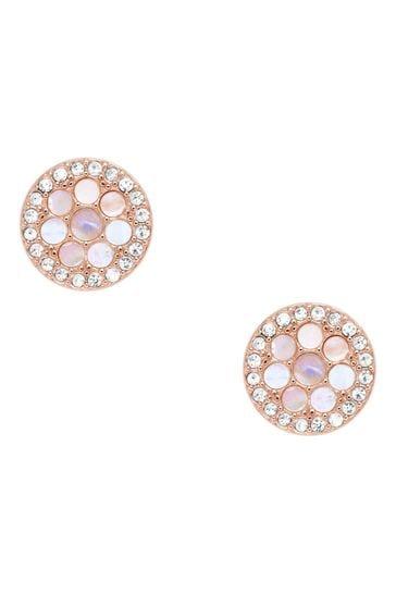Fossil Rose Gold Vintage Glitz Earrings