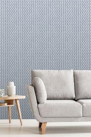 Urban Walls Grey Exclusive To Next Floral Geo Wallpaper