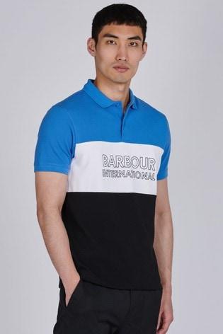 Barbour International Blue Bold Polo Shirt