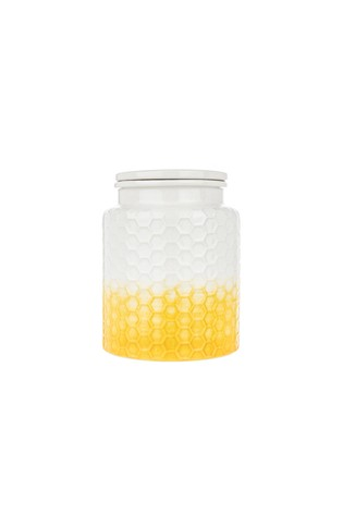 Kitchen Pantry Small Yellow Storage Canister
