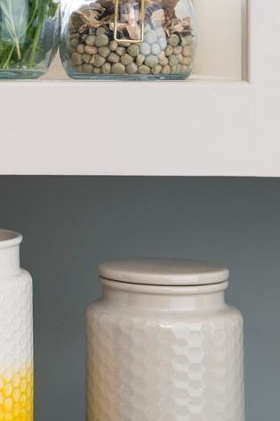 Kitchen Pantry Small Grey Storage Canister