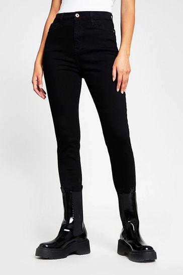 River Island Black High Rise Jeans