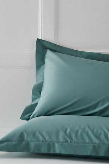 Set of 2 Marine Teal Cotton Rich Pillowcases