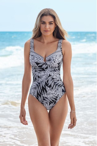 Miraclesuit® Black And White Escape Swimsuit