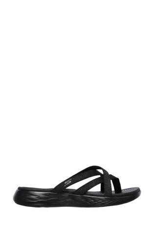 Skechers® Black Om-The-Go 600 Dainty Sandals