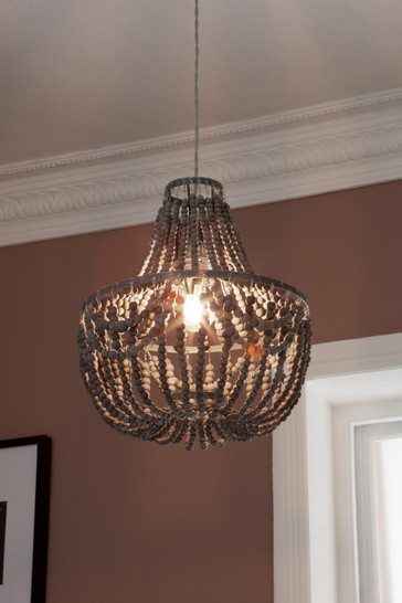 Grey Tahlia Easy Fit Pendant Lamp Shade