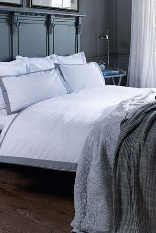 Jeff Banks White Pour La Maison Limoges 200 Thread Count Duvet Cover and Pillowcase Set