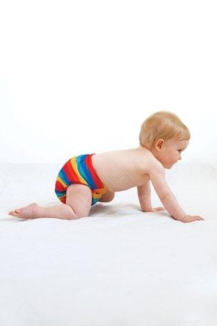 Frugi By Totsbots Rainbow Stripe Peenut Reusable Nappy Wrap