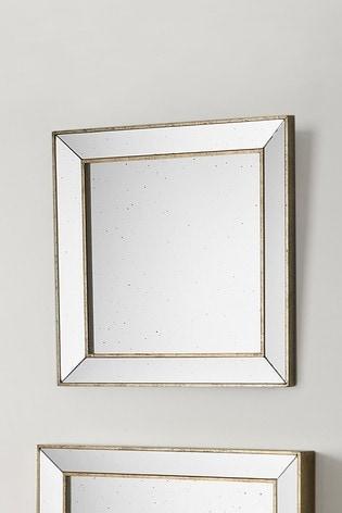 Pacific Foxed Glass Square Mirror