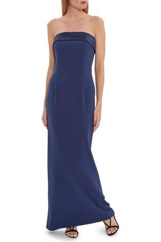 Gina Bacconi Maria Crepe And Satin Maxi Dress