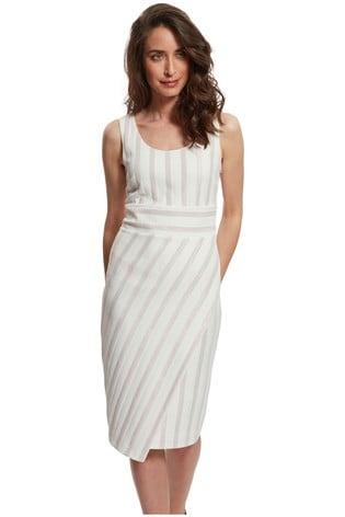 Gina Bacconi Alesta Stretch Jacquard Dress