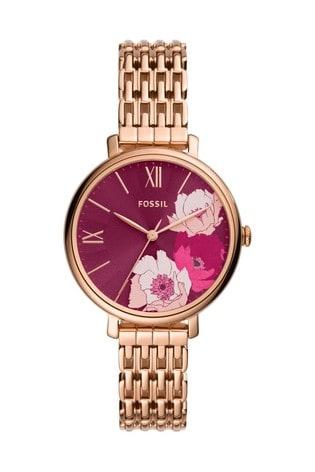 Fossil Jacqueline Rose Gold Bracelet Watch