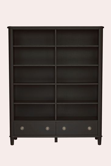Henshaw Black 2 Drawer Double Bookcase by Laura Ashley