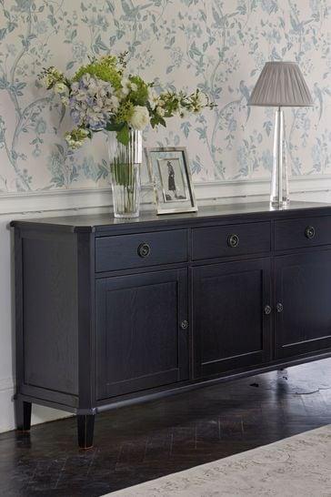 Henshaw Black 3 Door 3 Drawer Sideboard by Laura Ashley