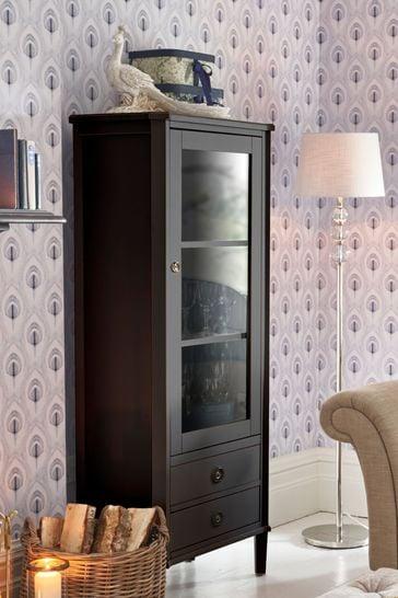 Henshaw Black 1 Door 2 Drawer Display Unit by Laura Ashley