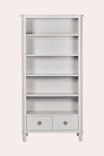 Henshaw Pale Steel 2 Drawer Single Bookcase By Laura Ashley