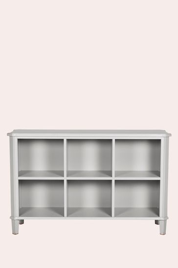 Henshaw Pale Steel Low Bookcase By Laura Ashley