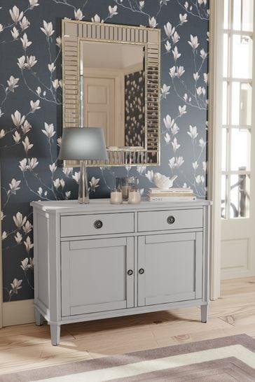 Henshaw Pale Steel 2 Door 2 Drawer Sideboard By Laura Ashley
