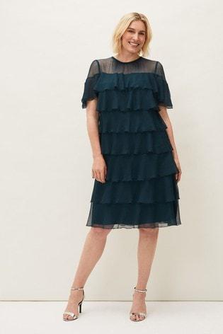 Phase Eight Blue Nika Layered Dress