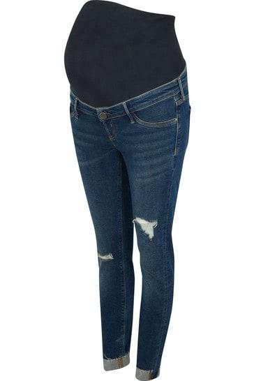 River Island Blue Denim Molly Mat Overbump Tortellini Jeans