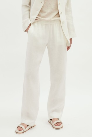 Jigsaw Herringbone Linen Trousers