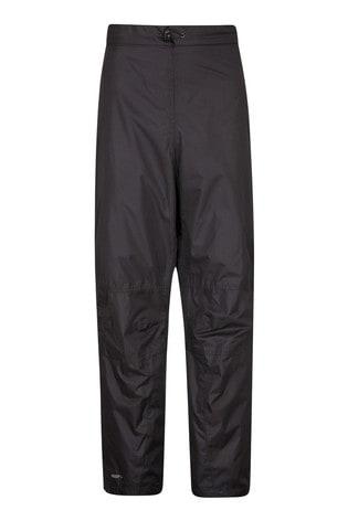 Mountain Warehouse Black Spray Mens Waterproof Trousers - Short Length