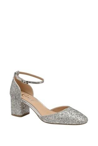 Ravel Glitter Block Heel Sandal