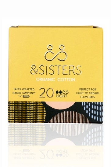 &Sisters   Plastic-free Naked Tampons   Organic   Paper-wrapped   Light