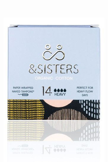 &Sisters   Plastic-free Naked Tampons   Organic   Paper-wrapped   Heavy
