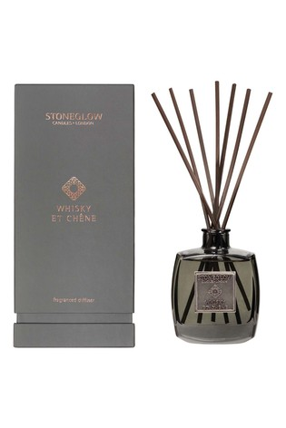 Stoneglow Metallique Collection Whisky et Chene Reed Diffuser