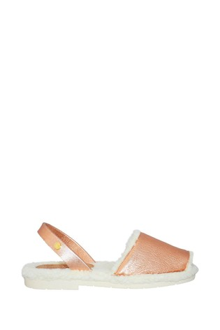 Palmaira Sandals Rose Gold Snugs Slippers with Shearling Inner